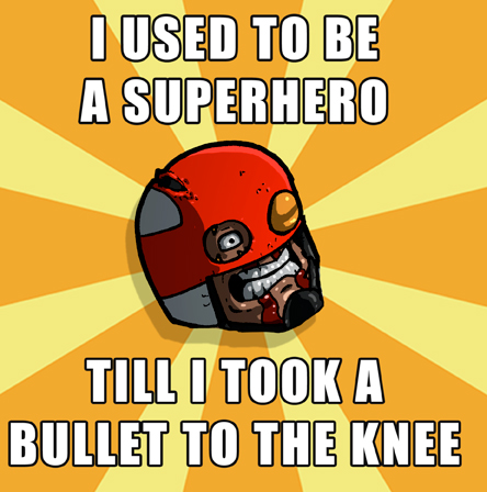 Bullet to the knee meme