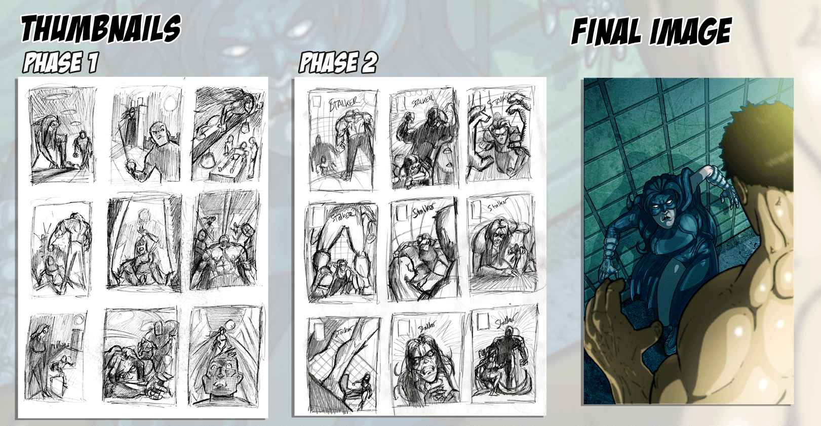 stalker five comic cover process