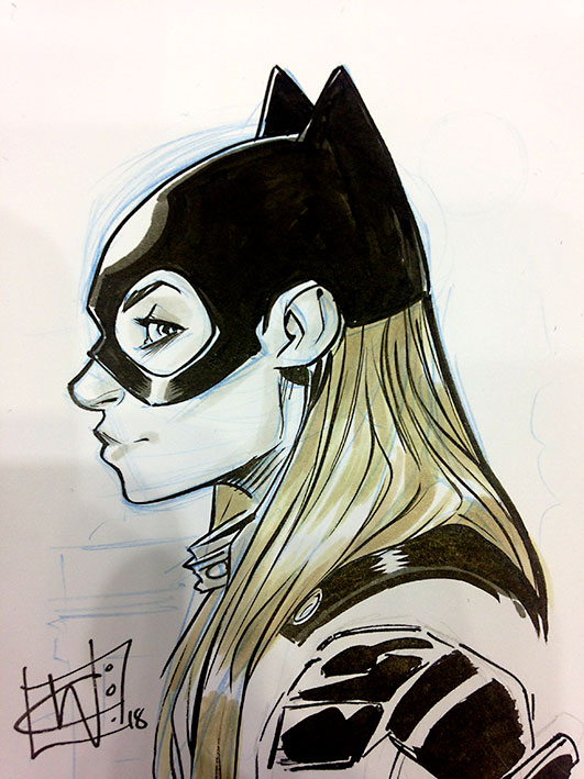 Chris Wildgoose Batgirl Sketch