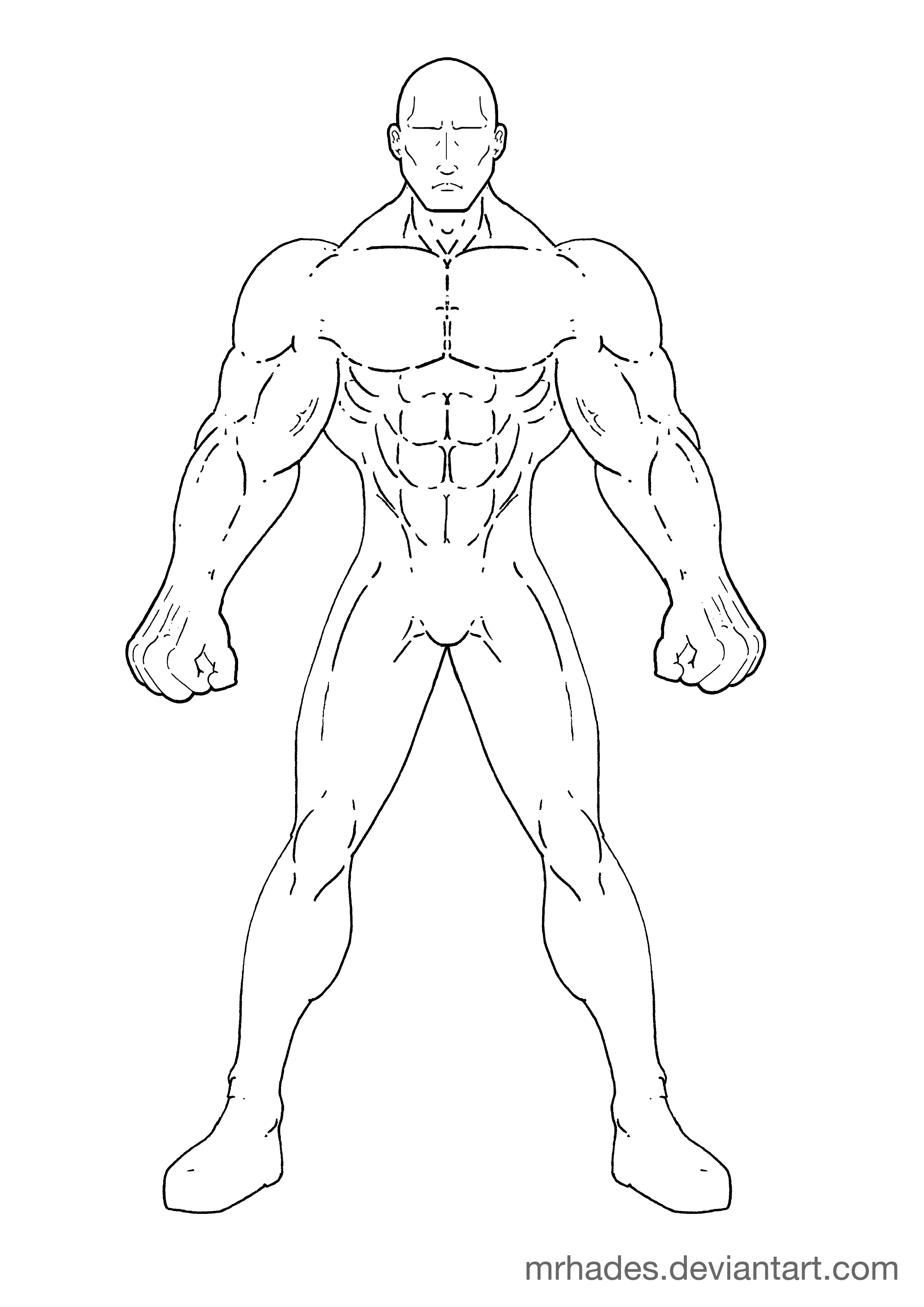 Muscled Man Template